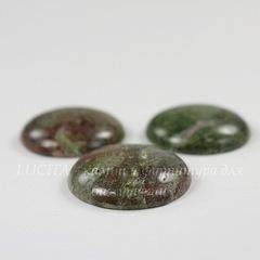 Кабошон круглый Унакит, 30 мм