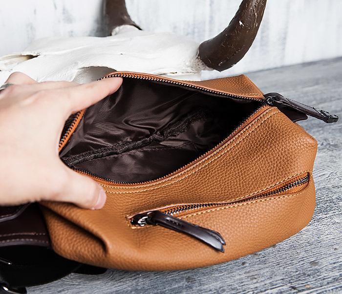 BAG422-2 Мужская сумка из кожи за спину с одной лямкой фото 09