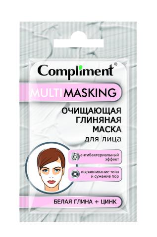 Compliment Саше MULTIMASKING ОЧИЩАЮЩАЯ ГЛИНЯНАЯ МАСКА для лица с белой глиной и цинком