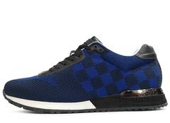Кроссовки Мужские Louis Vuitton Run Away Air Blue Black