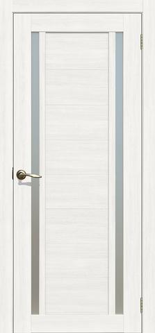 > Экошпон Двероникс 03, стекло матовое, цвет молочный дуб, остекленная