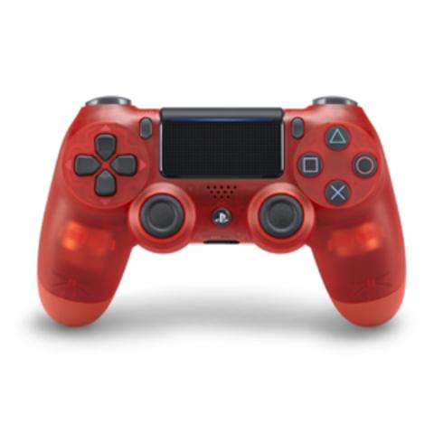 Sony PS4 Беспроводной контроллер DualShock 4 (Crystal Red, 2ое поколение)