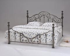 Кровать Каролина 200x160 (9603 MK-2205-BN) Черный Никель