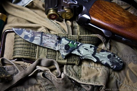 Складной нож Camo (сталь 8Cr13Mov)