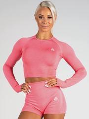 Женский топ Ryderwear Seamless Long Sleeve Crop - Coral Marle