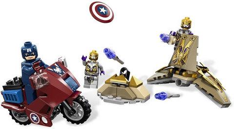 Минифигурки набор Мстители Капитан Америка на мотоцикле