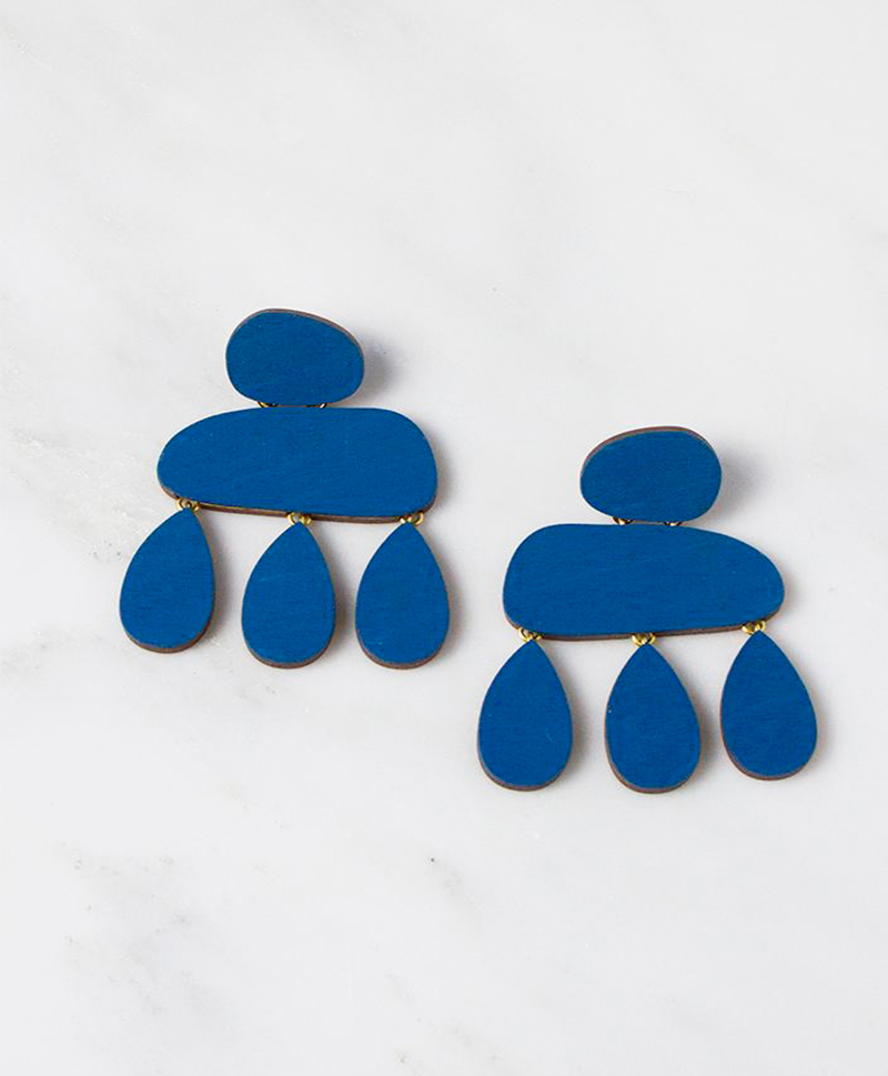 Серьги Cloud Earrings Cobalt Blue