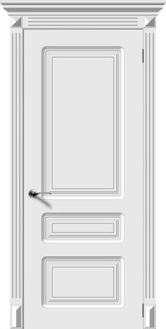 Дверь Верда Трио, цвет белый, глухая
