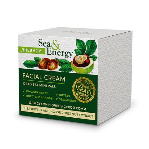 Крем для сухой и очень сухой кожи лица с маслом ши и экстрактом конского каштана Sea&Energy Facial Cream 50мл