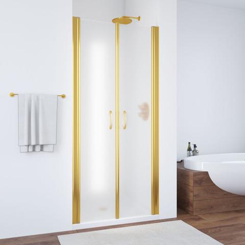 Душевая дверь в нишу Vegas Glass E2P профиль золото, стекло сатин
