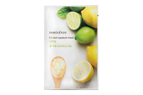 Innisfree Листовая маска для лица с экстрактом лайма My Real Squeeze Mask Lime