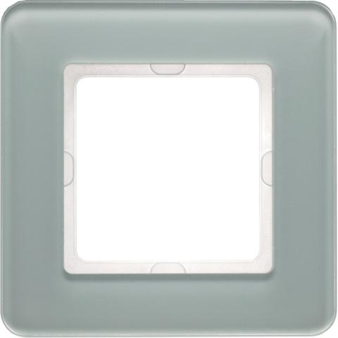 Рамка на 1 пост стекло. Цвет Полярная белизна. Berker (Беркер). Q.7. 10116079