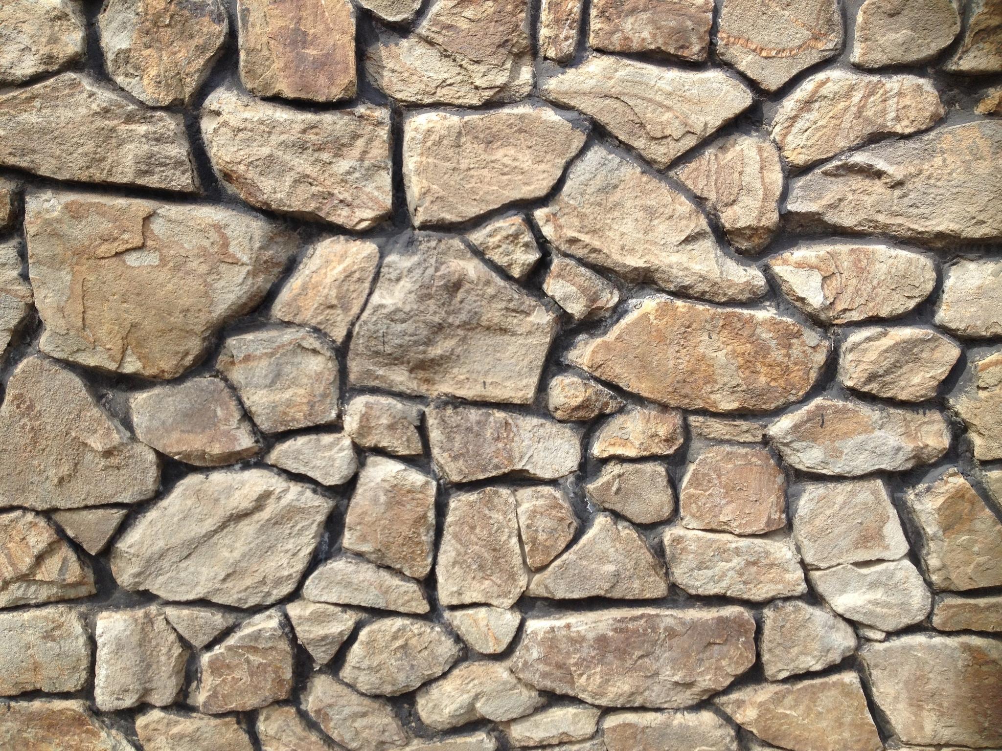 Бутовый камень ландшафтный Орех образец кладки