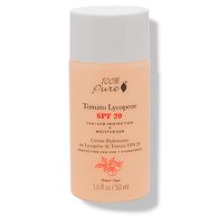 Органический крем для лица с антиоксидантами томатов SPF 20, 100% Pure