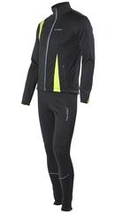 Утеплённый лыжный костюм Nordski Active Black-Lime 2016 детский