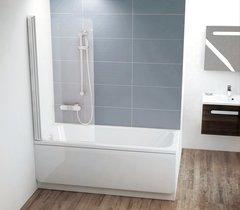 Шторка для ванны Ravak CVS1-80 R белая Transparent