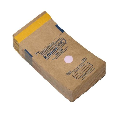 Крафт-пакеты для стерилизации, 60х100мм,