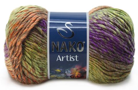 Nako Artist оранж\фиолет\зел 85924