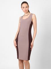 P309-62 платье бежево-коричневое