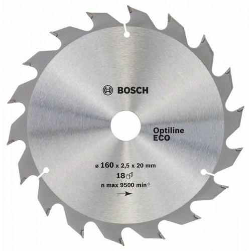 Диск по дереву Bosch 160х2,5х20/16 мм Optiline ECO Z18