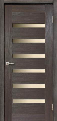 Дверь Дера Мастер 643, стекло белое, цвет венге, остекленная