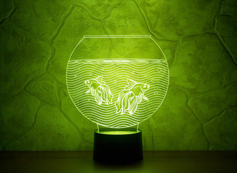 3D ночник Аквариум