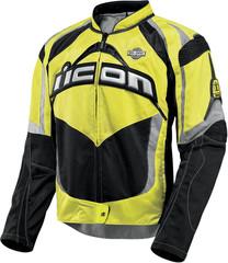 Мотокуртка - ICON CONTRA (текстиль, желтая)