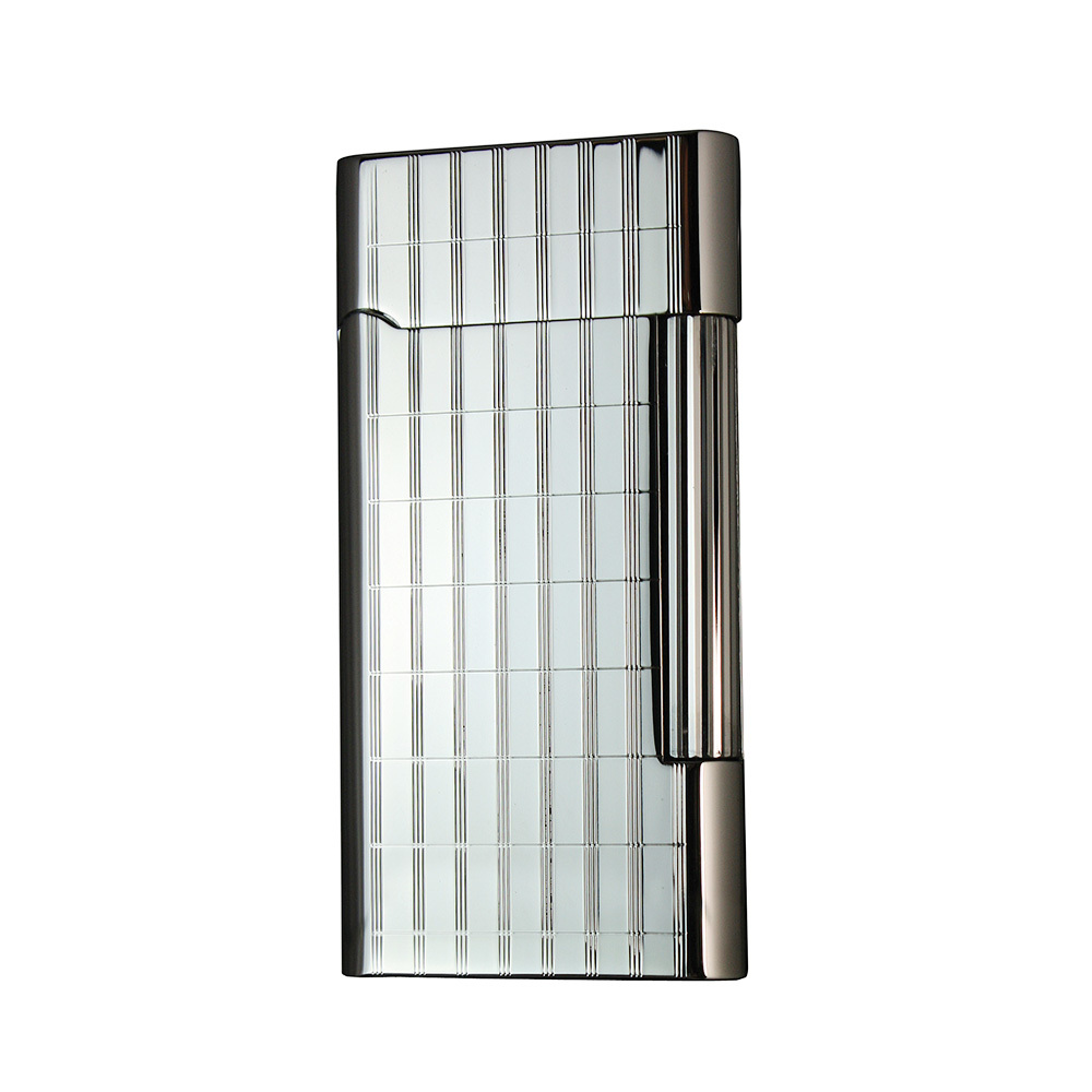 Зажигалка Pierre Cardin кремниевая газовая, цвет хром с гравировкой, 3,5х0,9х6,9см