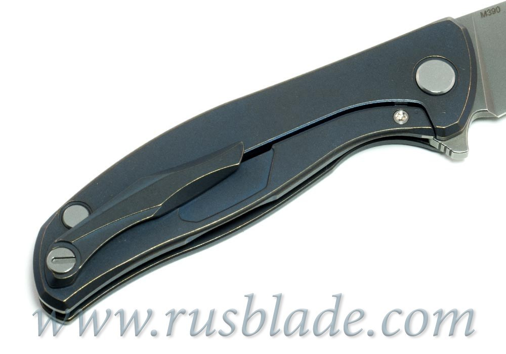 Shirogorov Flipper 95 M390 Blue Anod