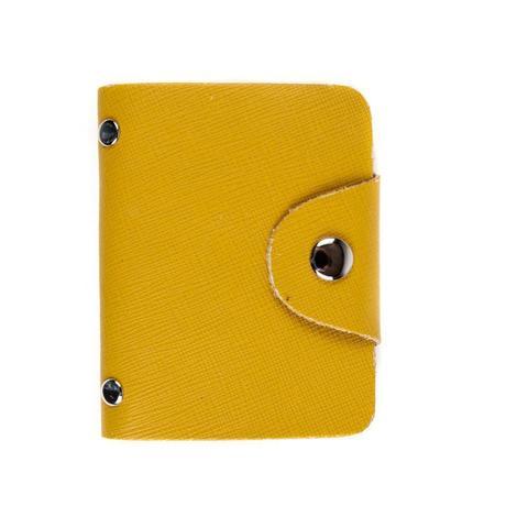 Визитница из натуральной кожи жёлтая DoubleCity BC-01-EL