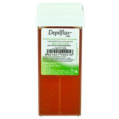depiflax воск для депиляции кассета 110 г. облепиха удаляет жесткие и темные волоски