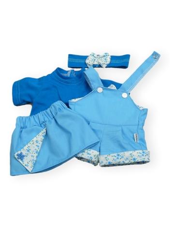 Летний комплект - Голубой. Одежда для кукол, пупсов и мягких игрушек.