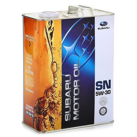 SUBARU 5W30 SN Масло моторное синт. (железо/Япония)