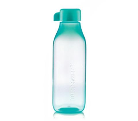 Бутылка эко квадратная в голубом цвете 500мл