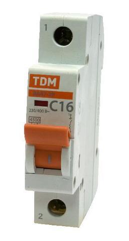 Авт. выкл.ВА47-29 1Р  1А 4,5кА х-ка D TDM