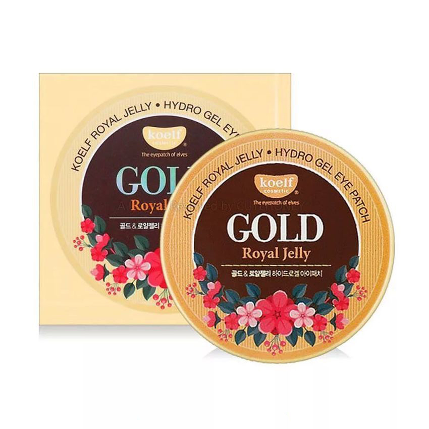 Koelf Патчей для век гидрогелевые Золото/Маточное молочко Royal Jelly Hydrogel Eye Patch, 60 шт
