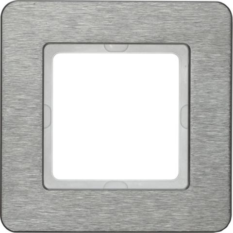 Рамка на 1 пост нержавеющая сталь. Цвет Нержавеющая сталь. Berker (Беркер). Q.7. 10116083