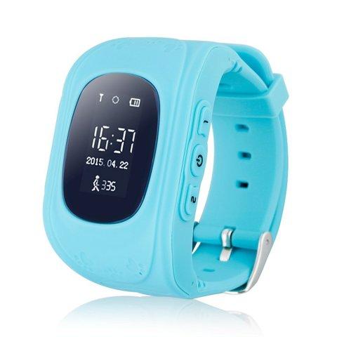 Детские часы с GPS трекером Smart Baby Watch Q50 Голубого цвета Перед