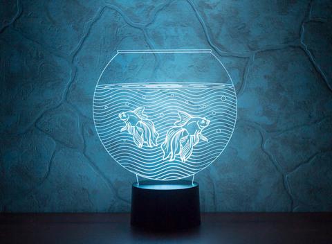 3D лампа Аквариум