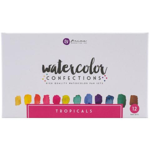Акварельные краски Prima Marketing Watercolor Confections Watercolor Pans 12шт. - Tropicals