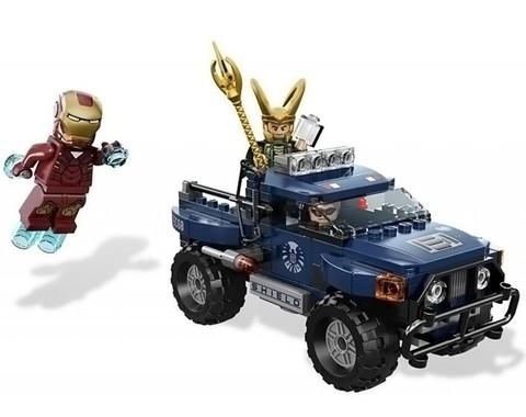 Минифигурки набор Мстители Побег Локи с Космическим Кубом