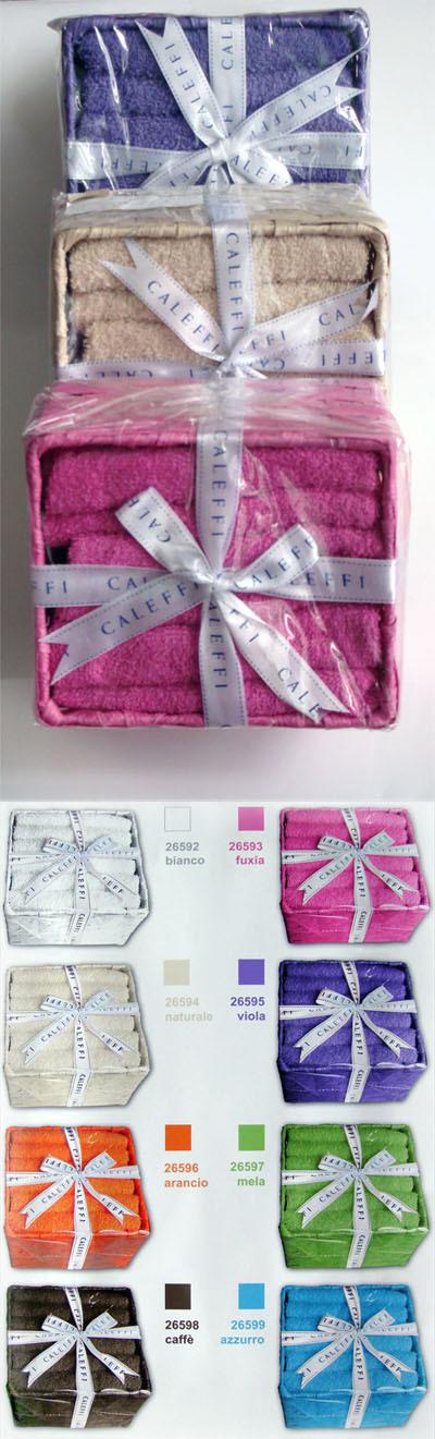 Наборы полотенец Набор полотенец 6 шт Caleffi Basic фиолетовый caleffi_basic.jpg