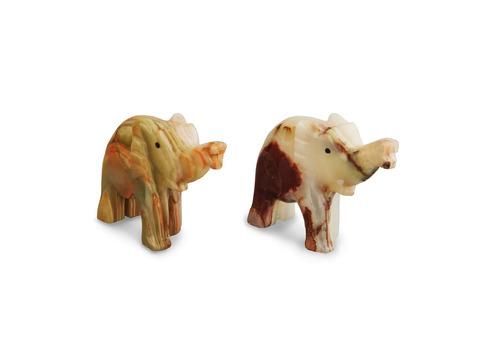 Слон из оникса большой (10х8х3 см). Интернет магазин чая