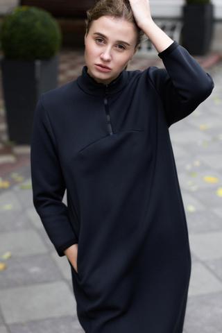 Платье КОКОН navy