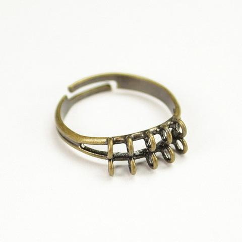 Основа для кольца 10 петелек (цвет - античная бронза)