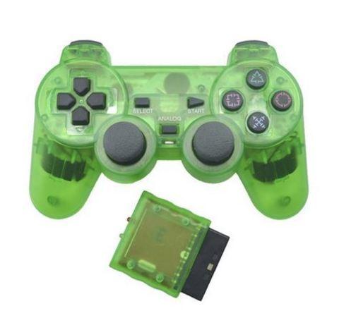 Sony PS2 Контроллер игровой беспроводной (зеленый, копия)