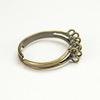 Основа для кольца с петельками (10 петелек) (цвет - античная бронза)