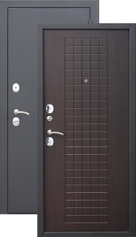 Дверь входная Гарда Муар 8 мм , 2 замка, 1,2 мм  металл, (чёрный муар+венге)