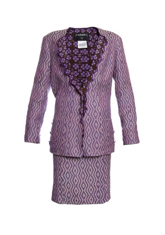 Изысканный костюм из твида от Chanel, 42 размер.