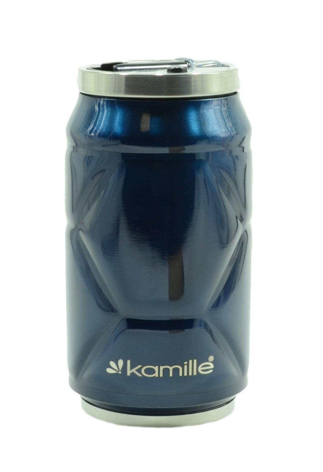 Термобанка с трубочкой Kamille 330 мл. синий